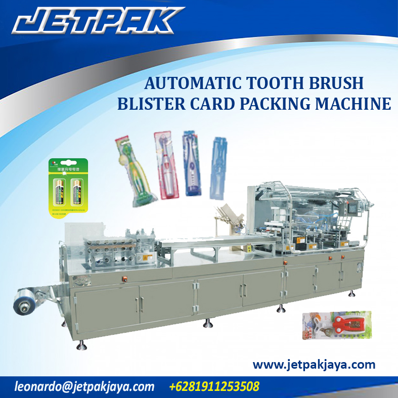 Automatic Tooth Brush Blister Card Packing Machine