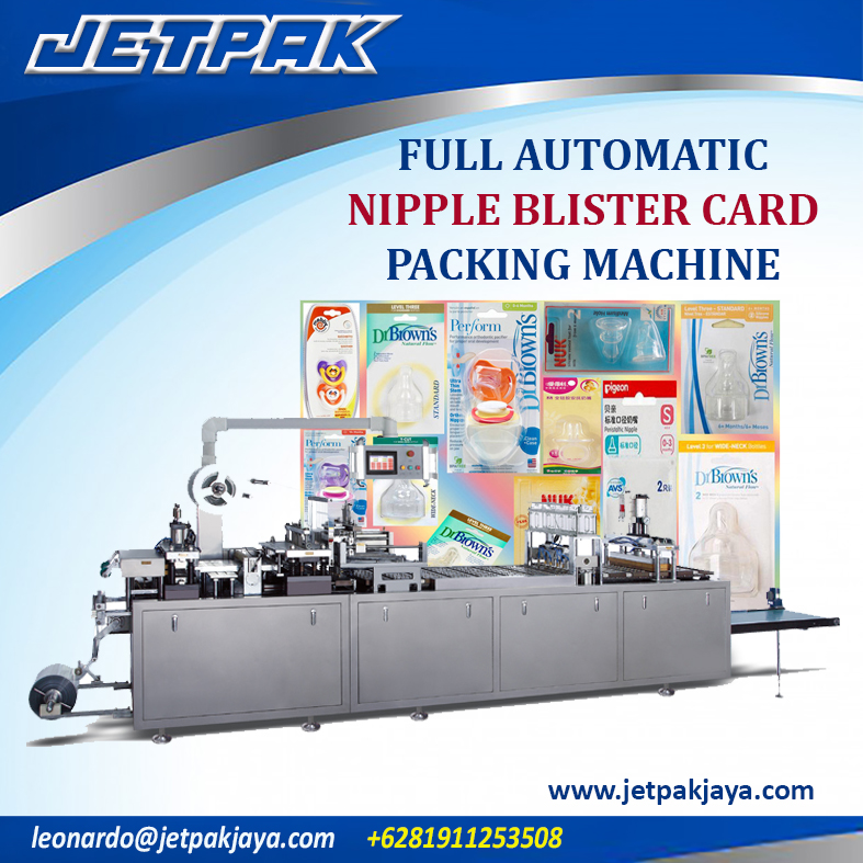 Full Automatic Nipple Blister Card Packing Machine