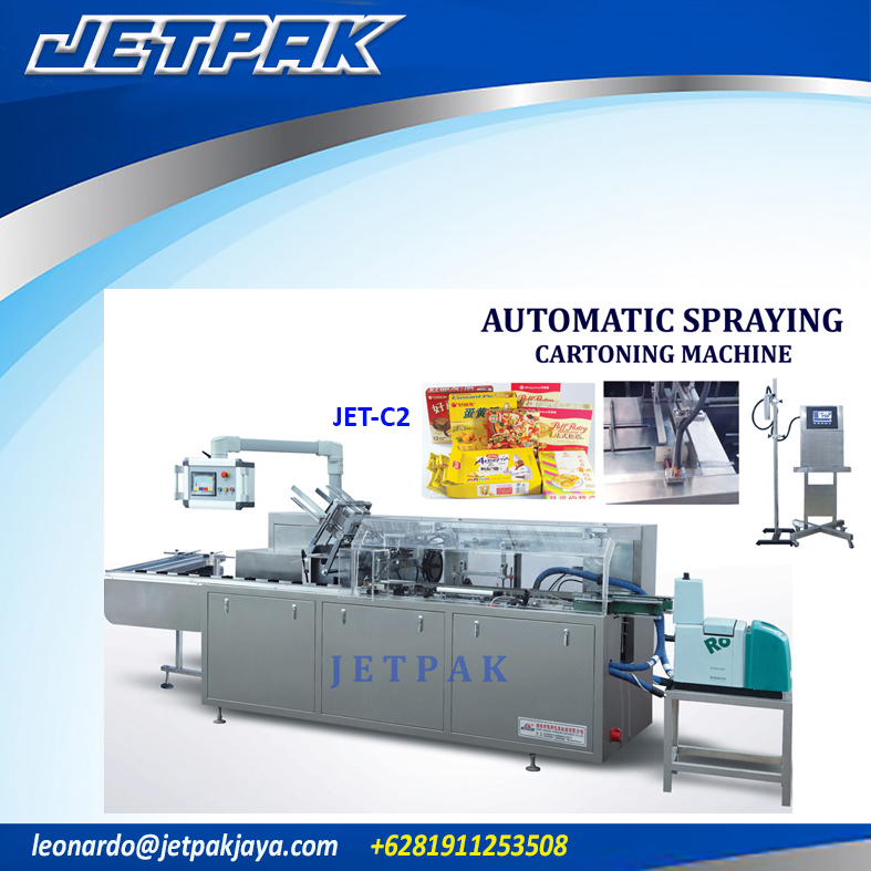 Automatic Spraying Cartoning Machine (JET-C2)