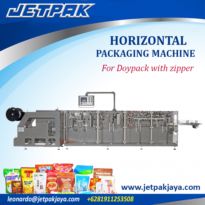 Horizontal Packing Machine For Doypack With Zipper