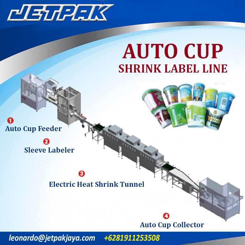 Auto Cup Shrink Label Line