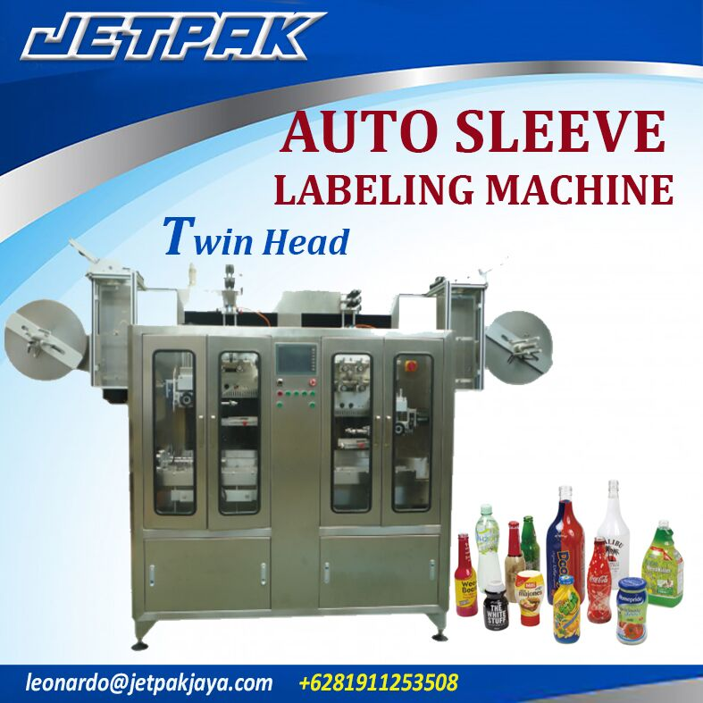 Auto Sleeve Labeling Machine Twin head JET-2250