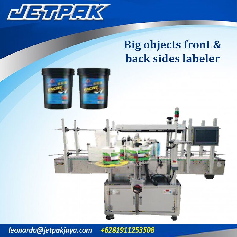 Big Objects Front & Back Sides Labeler