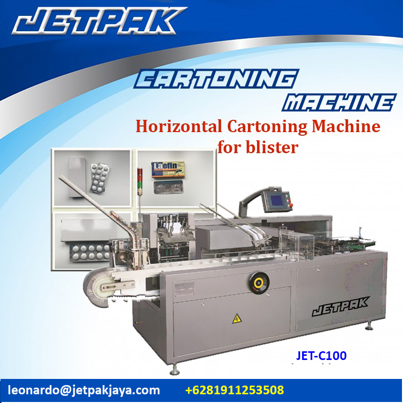 Horizontal Cartoning Machine for blister (JET-C100)