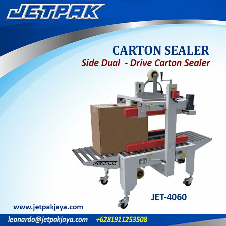 CARTON SEALER Side Dual – Drive Carton Sealer