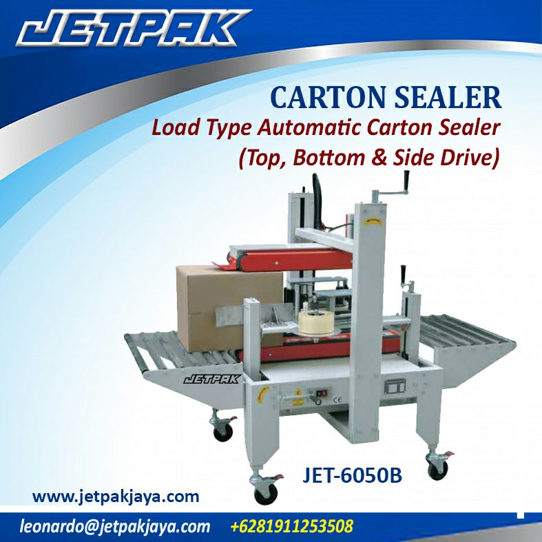 CARTON SEALER Load Type Automatic Carton Sealer ( top, bottom & side drive )