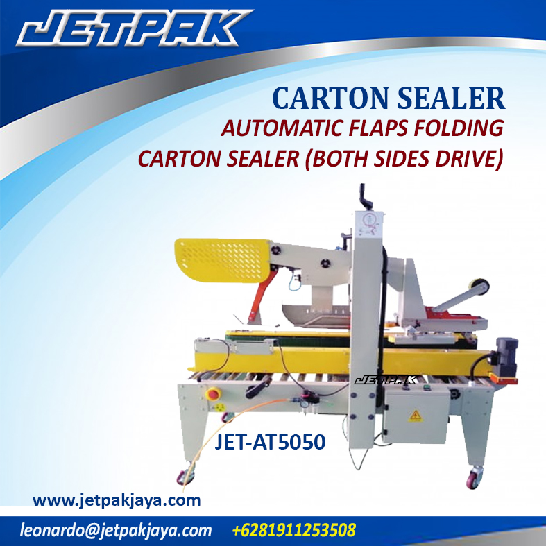 Automatic Flaps Folding Carton Sealer ( both sides drive )