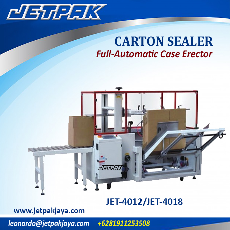 JET-4012/JET-4018 Full-Automatic Case Erector
