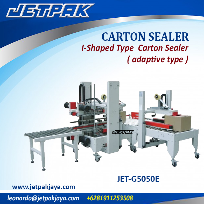 JET-G5050E I-Shaped Type  Carton Sealer ( adaptive type )