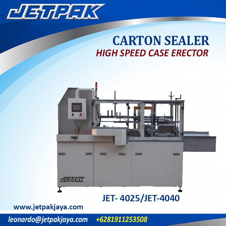 JET- 4025/JET-4040  HIGH SPEED CASE ERECTOR
