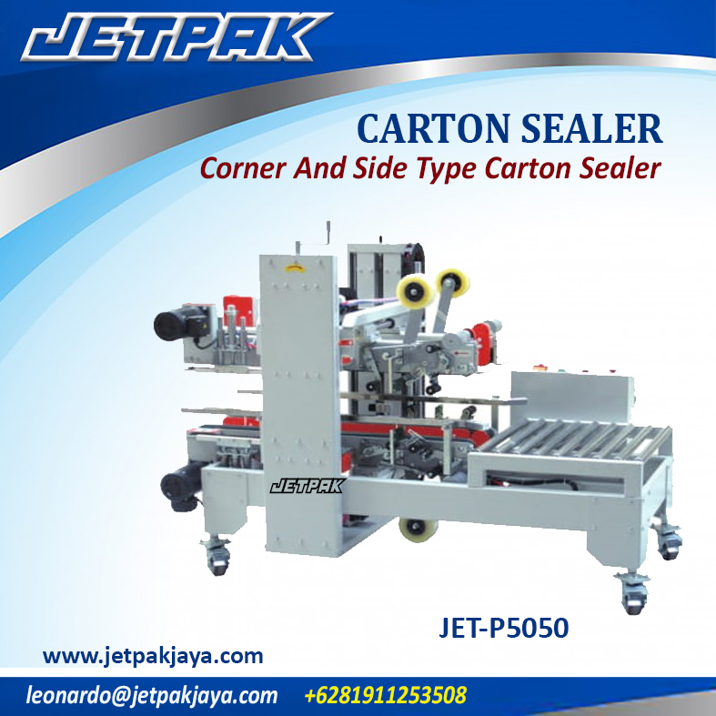 JET-P5050 Corner And Side Type Carton Sealer