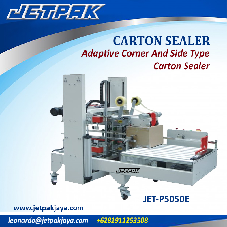 JET-P5050E Adaptive Corner And Side Type Carton Sealer