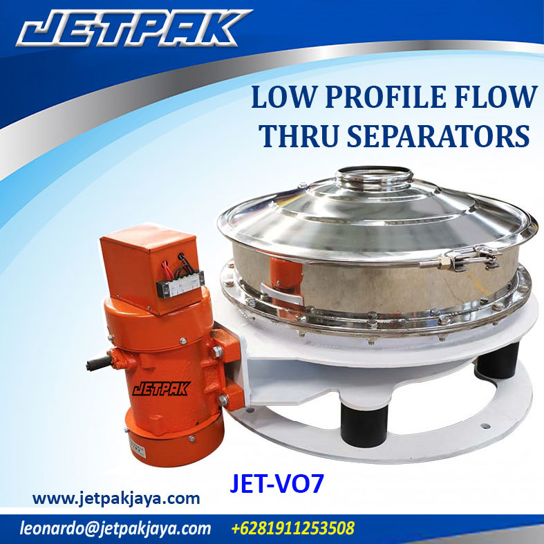 low profile flow thru separators (JET-VO7)